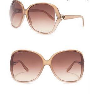 New Gucci 60mm Oversized Square Sunglasses